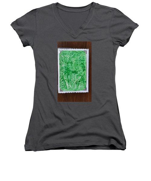 Green Jungle Women's V-Neck