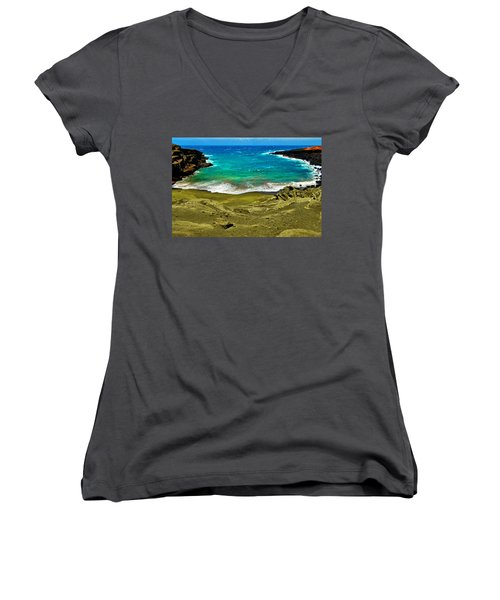 Green Sand Beach Women's V-Neck