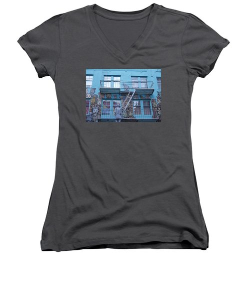 Guarding The Stairs Women's V-Neck