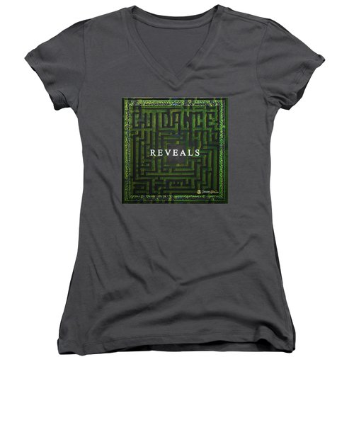 Women's V-Neck featuring the mixed media Guidance Reveals by Passion Give