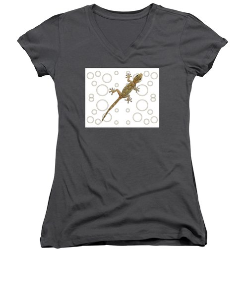 H Is For House Gecko Women's V-Neck (Athletic Fit)