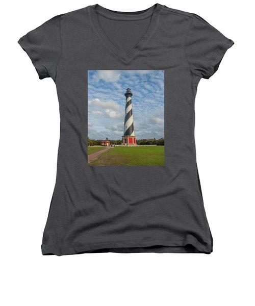 Hatteras Lighthouse Women's V-Neck