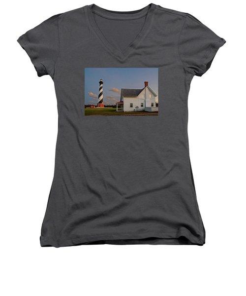 Hatteras Lighthouse No. 3 Women's V-Neck