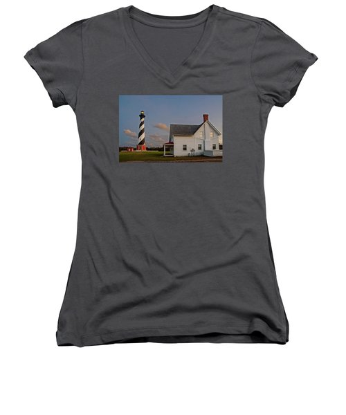 Hatteras Lighthouse No. 3 Women's V-Neck