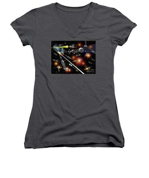 Hell In Space Women's V-Neck
