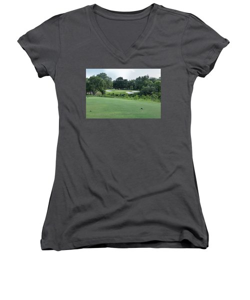 Hole #12 Women's V-Neck (Athletic Fit)