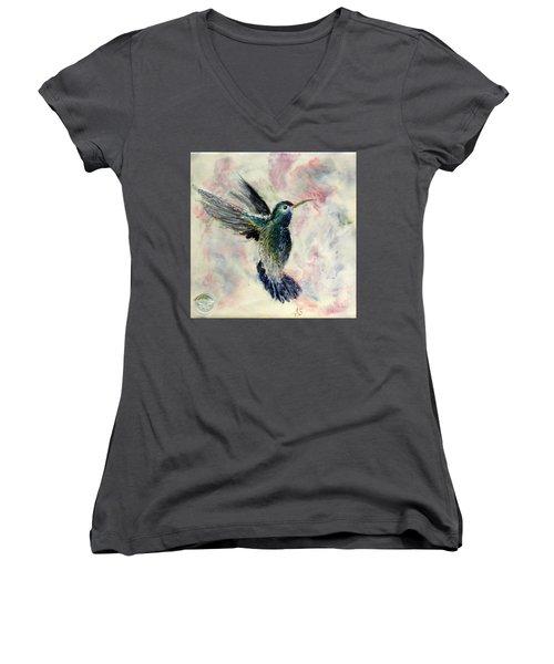 Hummingbird Flight Women's V-Neck