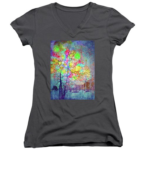 I Will Shine For You, Even In This Storm Women's V-Neck