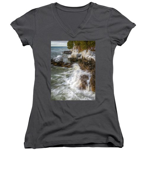 Ice And Waves Women's V-Neck