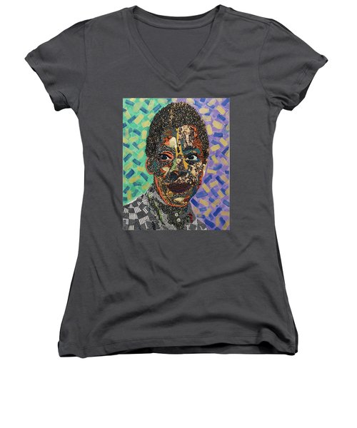 James Baldwin The Fire Next Time Women's V-Neck