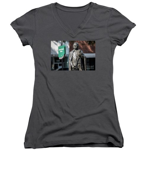 James Brown Statue - Augusta Ga Women's V-Neck