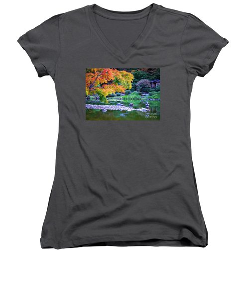 Japanese Garden Women's V-Neck
