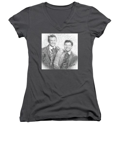 Jim And Artimus Women's V-Neck