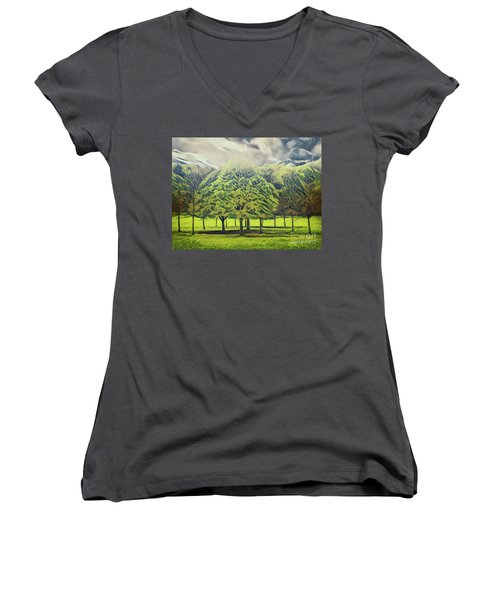 Women's V-Neck featuring the photograph Just Trees by Leigh Kemp