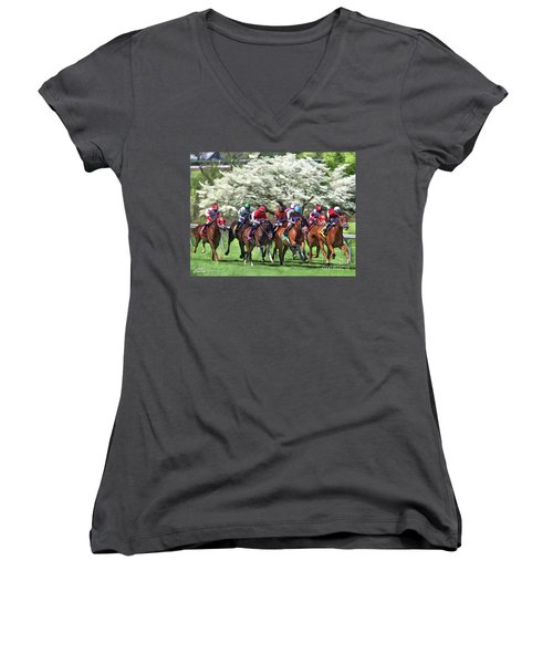 Keeneland Down The Stretch Women's V-Neck