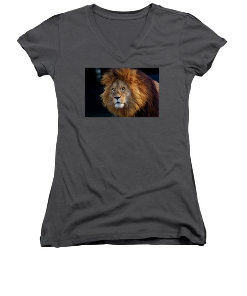 King Lion Women's V-Neck
