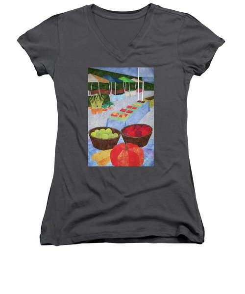 Kings Yard Farmers Market Women's V-Neck