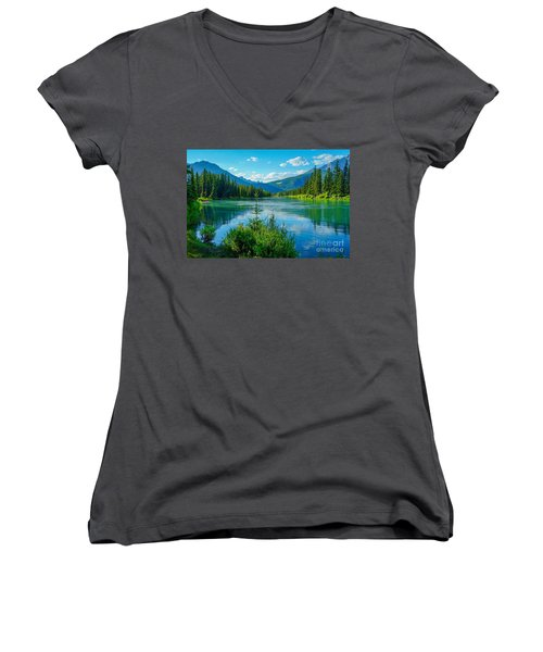 Lake At Banff Indian Trading Post Women's V-Neck