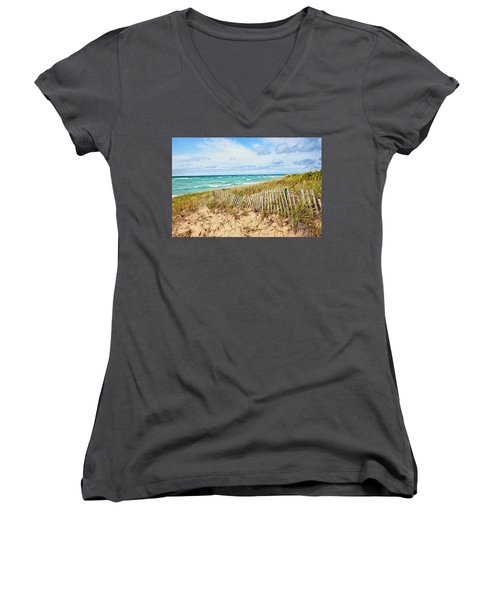 Lake Michigan Beachcombing Women's V-Neck