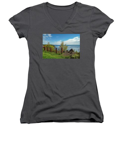 Lake Superior Overlook Women's V-Neck