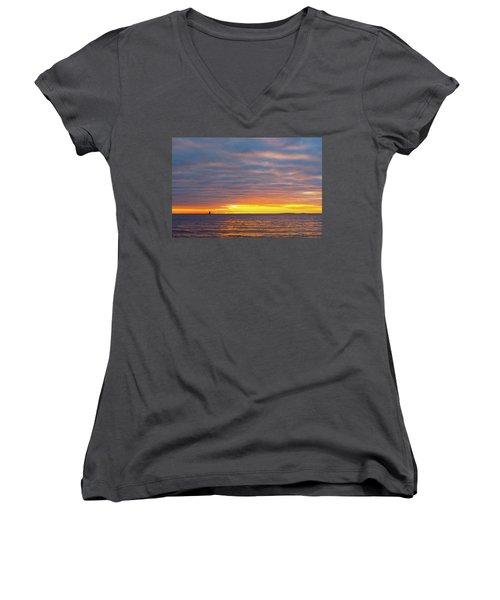 Light On The Horizon Women's V-Neck