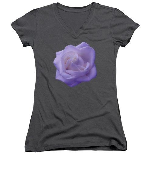 Light Purple Rose Women's V-Neck