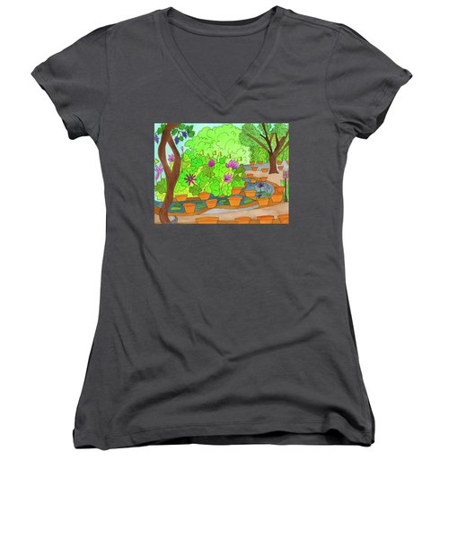 Lilies Women's V-Neck (Athletic Fit)