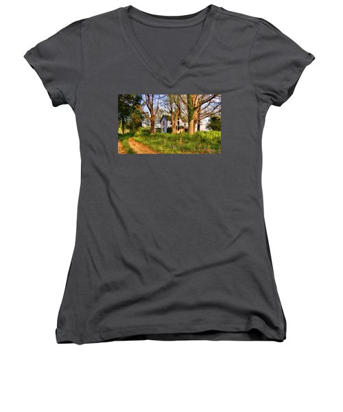 Lost And Abandoned  Women's V-Neck