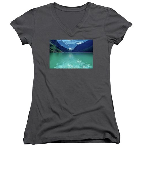 Magic At Lake Louise Women's V-Neck