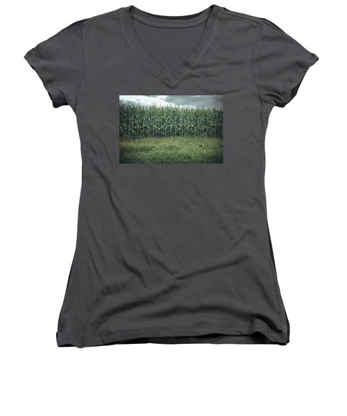 Maze Field Women's V-Neck