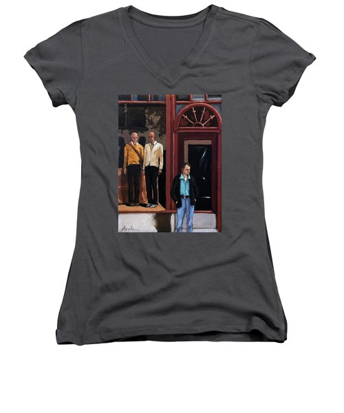 Men's Fashion Oil Painting Women's V-Neck