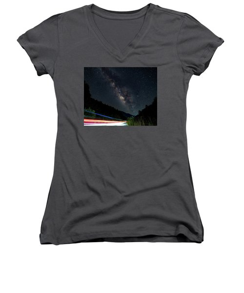 Milky Way Over The South Road Women's V-Neck