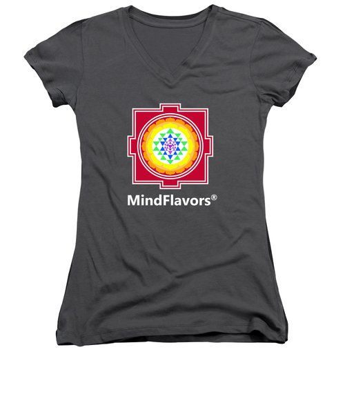 Mindflavors Medium Women's V-Neck