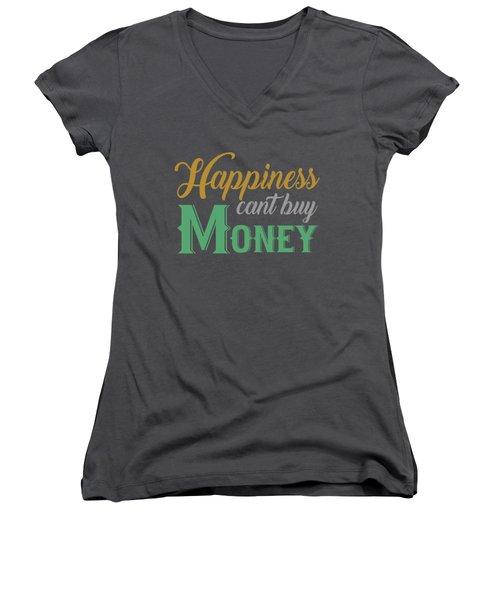 Money Happiness Women's V-Neck
