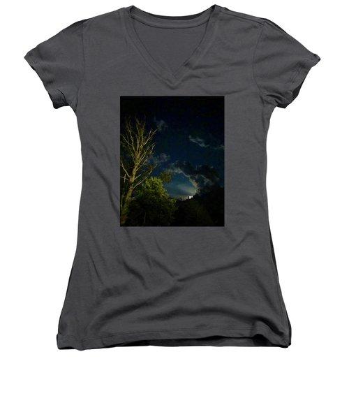 Moonlight In The Trees Women's V-Neck