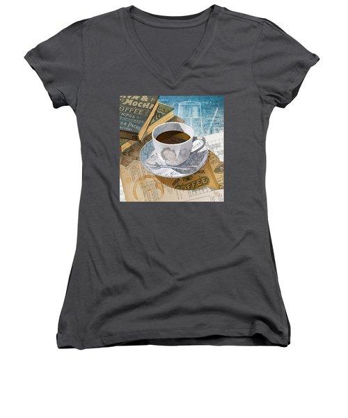 Morning Coffee Women's V-Neck