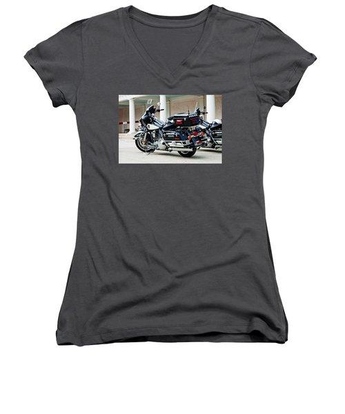 Motorcycle Cruiser Women's V-Neck