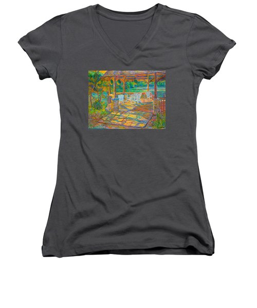 Mountain Lake Shadows Women's V-Neck