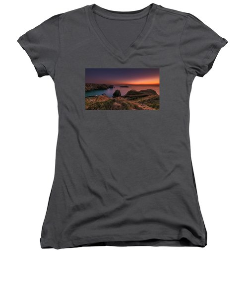 Mullion Cove - Sunset 2 Women's V-Neck