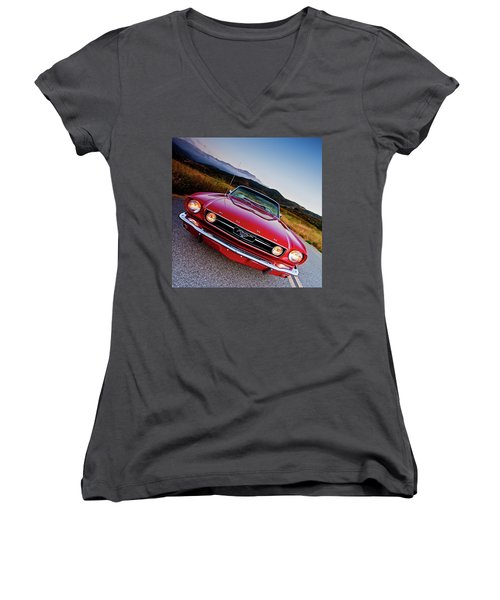 Mustang Convertible Women's V-Neck