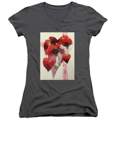 My Valentine Four Women's V-Neck