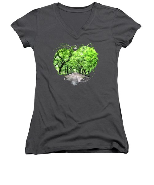 New York City Central Park Mall Women's V-Neck