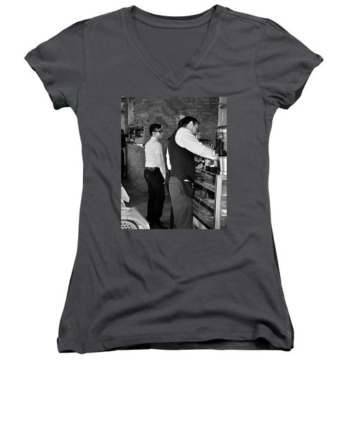 Women's V-Neck featuring the photograph New York, New York 18 by Ron Cline