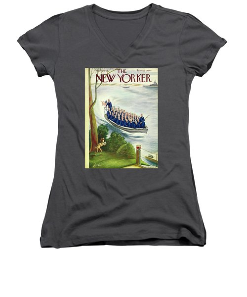 New Yorker May 9th 1942 Women's V-Neck