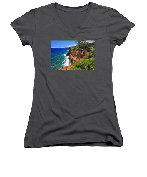 North Hawaii View Women's V-Neck