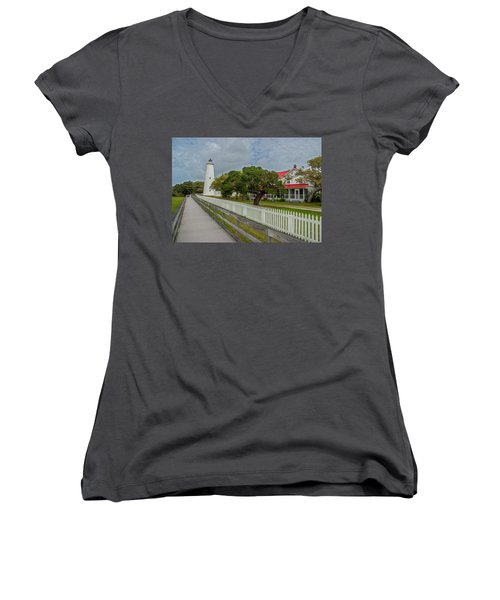 Ocracoke Lighthouse  Women's V-Neck