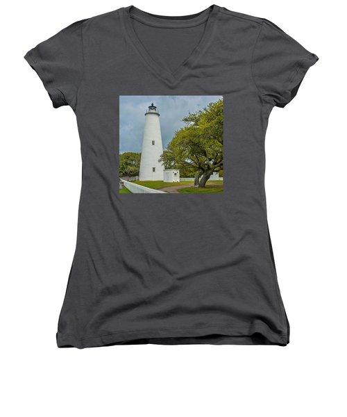 Ocracoke Lighthouse No 2 Women's V-Neck