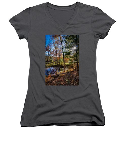 October Late Afternoon Women's V-Neck