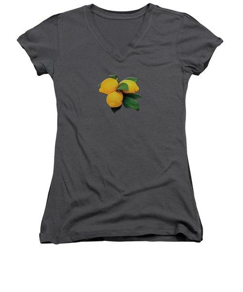 Old Gold Lemons Women's V-Neck