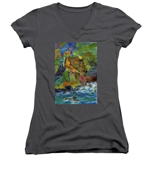 Old Point Loma Lighthouse Women's V-Neck